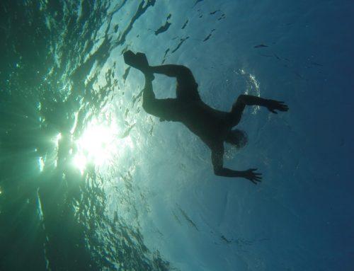 Swimming Underwater Shot