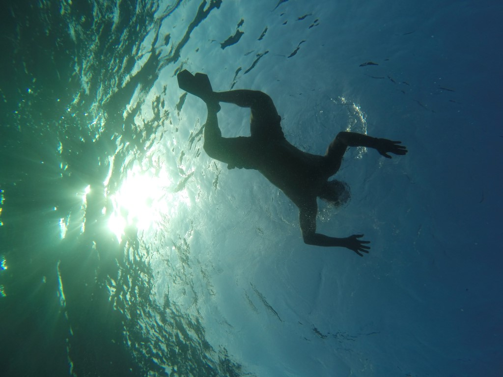 Swimming Underwater Shot